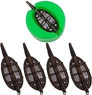 Carp Fishing Inline Flat Method Feeder Ground Bait Mould Set 4 Feeders 15/20/25/35g 30/40/50/60g 15/24/34/40g