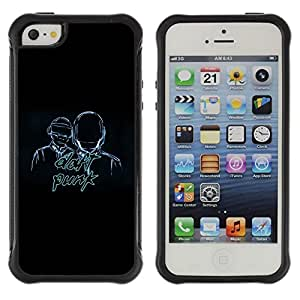 """Hypernova Defender Series TPU protection Cas Case Coque pour Apple iPhone SE / iPhone 5 / iPhone 5S [Daft Band""""]"""