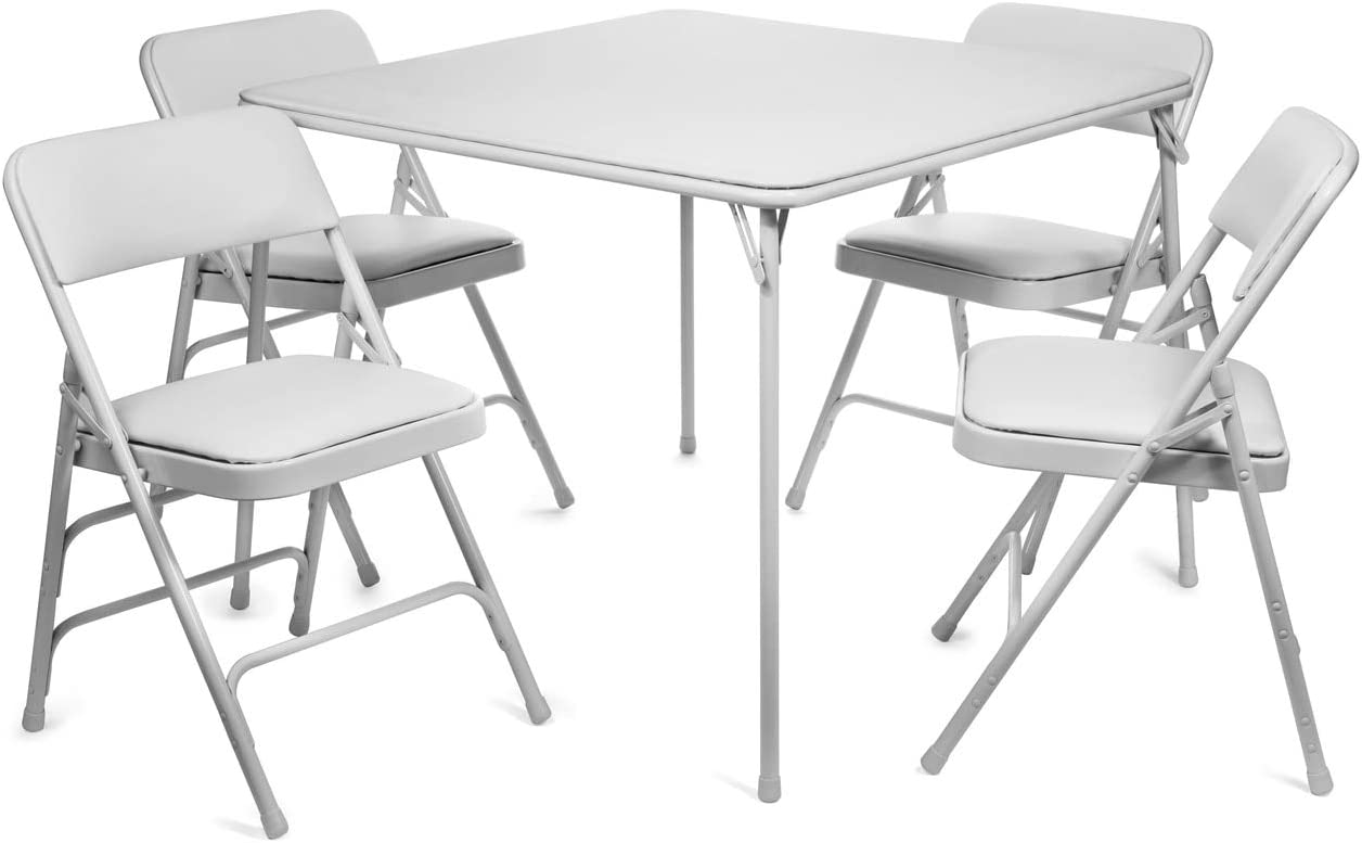 - Amazon.com: XL Series Vinyl Folding Card Table And Chair Set (5pc
