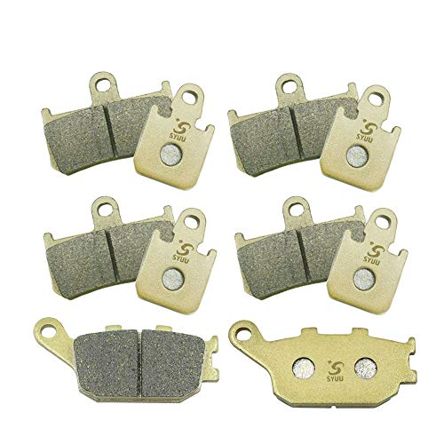 (SYUU Motorcycle Replacement Front Rear Brake Pads Brakes for Yamaha YZF R1 2007 2008 2009 2010 2011 2013 2014 FA442F FA174R )