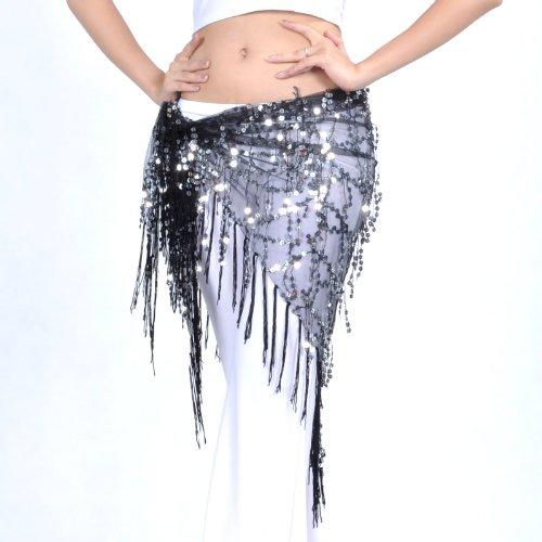 Chale De Dance Charpe Tribal Triangle 2 Hip Style Avec Belly Frange 0HantFHq