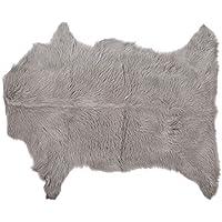 Bloomingville Goat Fur Rug, Light Grey