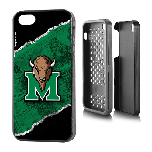 Marshall Thundering Herd iPhone 5 & iPhone 5s Rugged Case officially licensed by Marshall University for the Apple iPhone 5/5s by keyscaper® Durable Two Layer Protection Shock Absorbing
