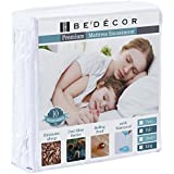 Bedecor Zippered Encasement Six Sides Waterproof, Dust Mite Proof, Bed Bug Proof Breathable Mattress Protector - Queen (FITS UP to 9')
