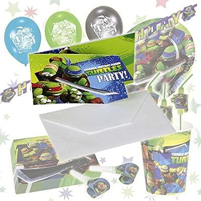 NET TOYS 6 Tarjetas de invitación con sobre Tortugas Ninjas ...
