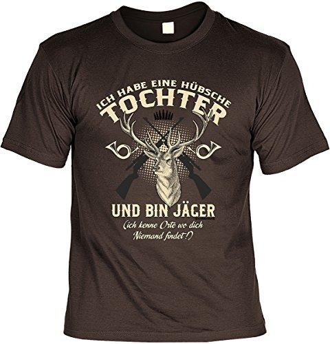 T-Shirt - Ich habe eine hübsche Tochter - und ich bin Jäger - cooles Shirt mit lustigem Spruch als Geschenk für den Vater