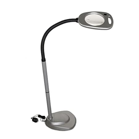 Mighty bright led floor light and magnifier amazon kitchen mighty bright led floor light and magnifier mozeypictures Images