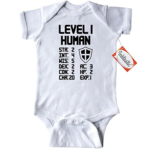 Inktastic-Unisex-Baby-Level-1-Human-Infant-Creeper
