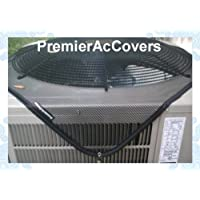 Air Conditioner Leaf Guard - Keeps Out Leaves, Cottonwood and Debris --36X36 - BLACK