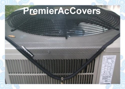 Air Conditioner Leaf Guard - Keeps Out Leaves, Cottonwood and Debris --36X36 - BLACK by PremierAcCovers