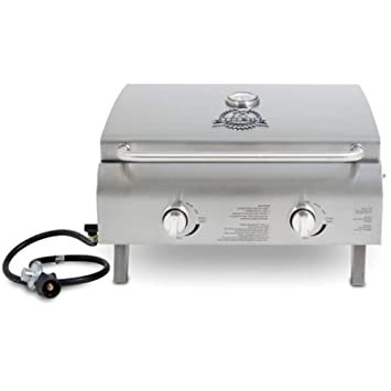 Smallest Gas Grill, Silver Small Indoor And Outdoor Combo Stainless Steel Portable  Table Top Low