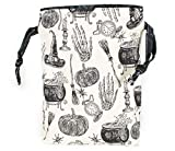 Large Cauldrons, Broomsticks and Witches Drawstring Bag for Tarot Deck, Oracle cards, Dice bag, Jewelry Bag, Gift Bag
