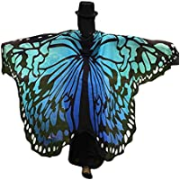 Qisc Adult Soft Fabric Butterfly Wings Shawl, Fairy Ladies Nymph Pixie Costume Accessory Party Costume