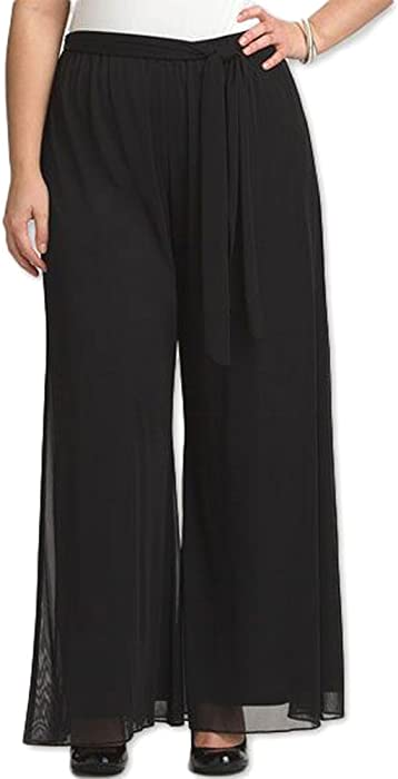 a19c3d529d7 Red Dot Boutique 8006 - Plus Size Elastic Waistband Wide Legged Palazzo  Pants (Size 1X