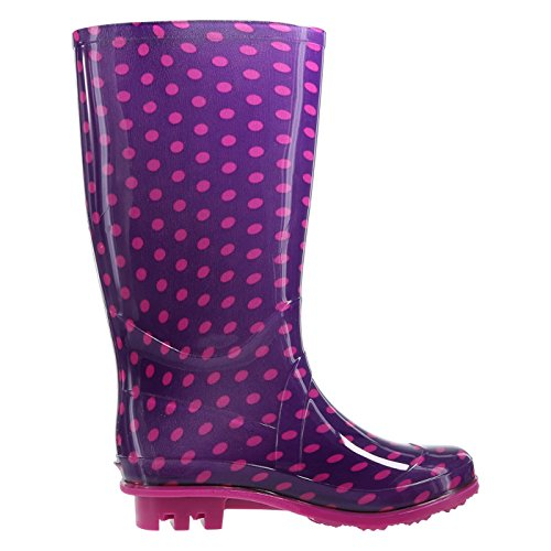 Pictures of Rugged Outback Purple Pinkdots Girls' Rain Boot 174111040 4