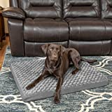 FurHaven Pet Dog Bed | Deluxe Orthopedic Ultra Plush Mattress Pet Bed for Dogs & Cats, Gray, Large