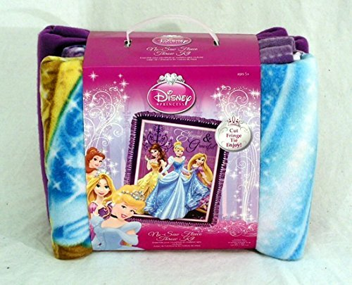 Princess Elegant & Graceful No-Sew Fleece Throw Kit Fleece Tie Throw