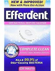 Efferdent Anti-Bacterial Denture Odor Cleanser (126 Tablets)