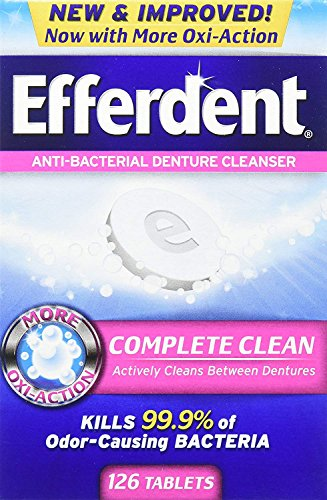 Efferdent Original Anti-Bacterial Denture Cleanser Tablets 126 ea (Pack of - Efferdent Denture Tablet