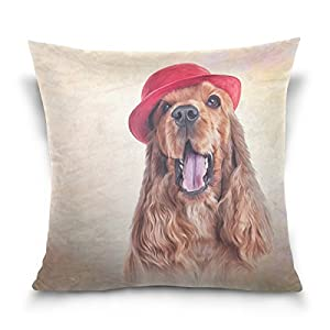 My Daily English Cocker Spaniel Dog Square Throw Pillow Case Cotton Velvet Cushion Cover 20x20 inch 4