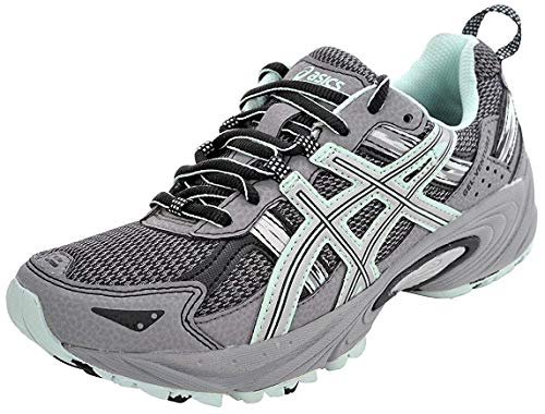 ASICS Women's Gel-Venture 5 Trail Running Shoe, Frost Gray/Silver/Soothing Sea, 9.5 M US (Shoes Wide Box Toe Women)