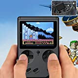 weijij 3.0 inch HD Screen Portable Retro Mini Handheld Video Game Console Retro Games Game Machine Gameboy Built-in 500 Classic Games for Kids Gifts Birthday Presents for Children (Black)