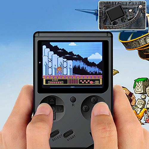 Glumes Game Console Game Console 3 Inch 500 Games Retro Game Player Classic Game Console 1 USB Charge, Birthday Presents for Children Retro Mini Handheld Video Game Console Gameboy