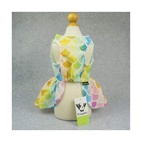 Fitwarm Fairy Mermaid Pet Clothes Dog Dresses Sundress Cat Vest Shirts 5