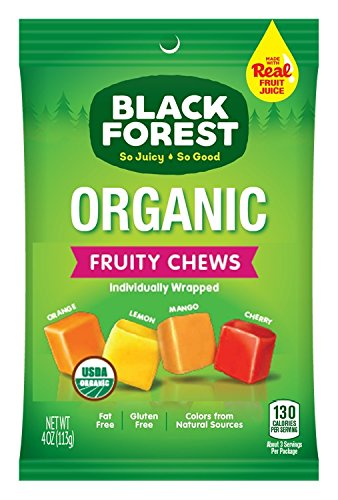 Black Forest Organic Fruity Chews Candy, 4-Ounce Peg Bag (Pack of 12)]()