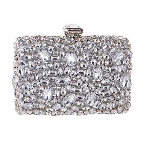 sera a diamante borsa della Black Hungrybubble della Borsa tracolla acrilico del del del frizione della Silver della di crossbody Color frizione borsa banchetto C5qawAq