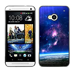 Planetar® ( Descent Of Majestic Skies ) HTC One M7 Fundas Cover Cubre Hard Case Cover