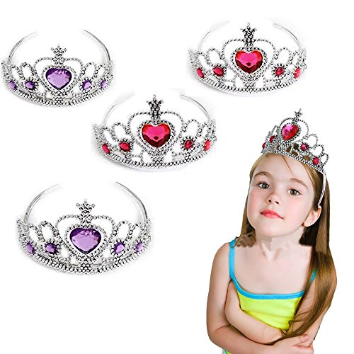 Toy Cubby Crown - 12 Pieces - Adorable Costume Jeweled Heart Kids Princess Tiara Crowns Set Holidays - Halloween Dress-ups - Birthday Parties... and Much -