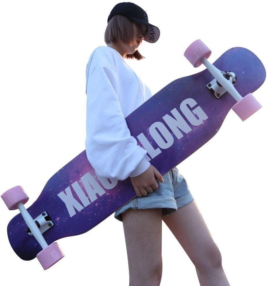 スケートボードツール スケートボード ペニーボード 子供用スケートボード スケートボード用デッキ 業務用初心者用ロングボード 成人用4輪スクーター 学生用デッキ パーフェクトギフト (Color : 紫の, Size : 107*24.5*13cm) 紫の 107*24.5*13cm