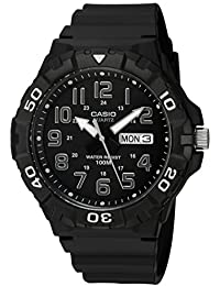 Men's 'Diver Style' Quartz Resin Casual Watch, Color Black (Model: MRW-210H-1AVCF)