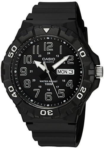 Casio Men's 'Diver Style' Quartz Resin Casual Watch, Color:Black (Model: MRW-210H-1AVCF)