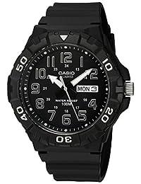 Casio Men's 'Diver Style' Quartz Resin Casual Watch, Color: Black (Model: MRW210H-1AV)