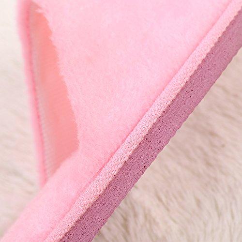 Algodón Interior Zapatillas Rosa1 Antideslizante De Con Mute E Invierno Piso Cálido Interiores Madera Casa Treestar Felpa Otoño qZBtqR