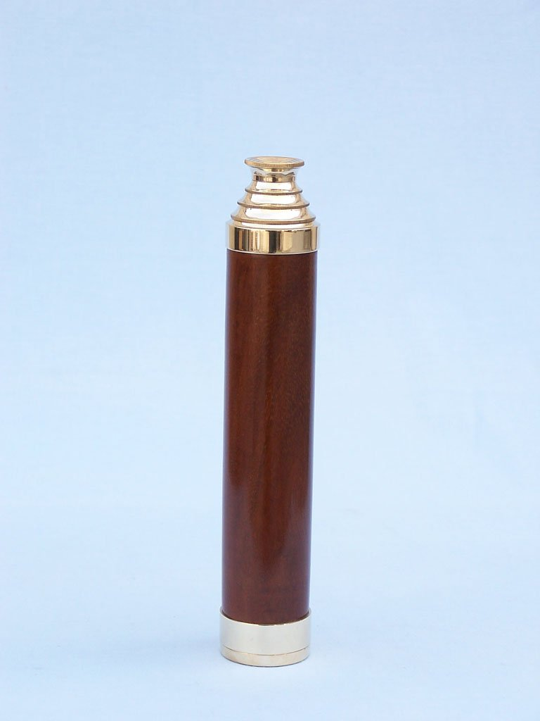 Admiral's Brass / Wood Spyglass 25'' - Wood Telescope - Hand Telescope - Hand He by Handcrafted Model Ships (Image #2)