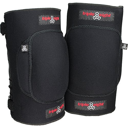 Triple 8 Undercover Snow Knee Pads, Black