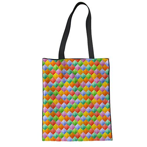 Advocator Frauen Reisen Tragetaschen Stylish Print Handtasche zum Einkaufen Casual Beach Bag für Urlaub Color-8