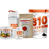 310 Nutrition Transformation Kit - Includes Chocolate Meal Replacement 310 Shake, 310 Detox Tea, 310 Juice, 310 Thin and Includes a 310 Shaker and Blending Bottle (Clear Shaker)