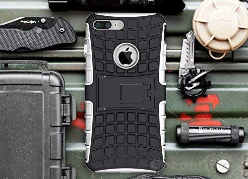 Cocomii Grenade Armor iPhone 8 Plus/7 Plus Case New [Heavy Duty] Premium Tactical Grip Kickstand Shockproof Bumper [Military Defender] Full Body Rugged Cover for Apple iPhone 8 Plus/7 Plus ()