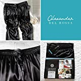 Alexander Del Rossa Men's Satin Pajama Pants, Long