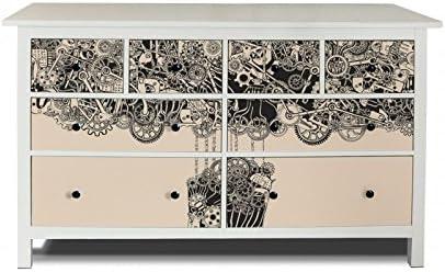 yourdea Muebles de pantalla para cómoda de Ikea hemnes 8 cajones/Muebles de pegatinas para diseñar Incluso/ – pegatinas adhesivas con diseño artesanía ...