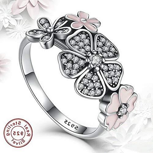Campton 925 Silver Ring Daisy Flower Women Men White Topaz Wedding Engagement Size 5-10 | Model RNG - 12405 | 8