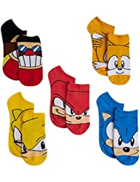 Video Game Socks; No Show Character Socks For Boys; 5 Pack