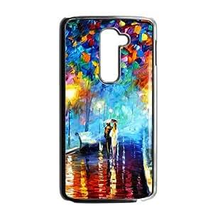 Trail rainy night romantic lover scenery Phone Case for LG G2