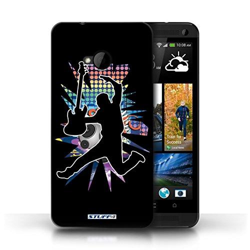 Etui / Coque pour HTC One/1 M7 / Saut Noir conception / Collection de Rock Star Pose