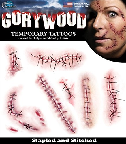 Tinsley Transfers Stapled and Stitched Temporary Tattoo Kit,