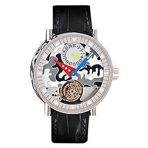 Alain Silberstein Men's Watch Limited Edition Volante Stainless Steel Cloisonne Enamel Tourbillon